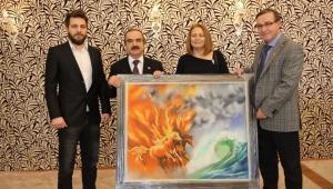 Olgaç Ailesi'nden Vali Hüseyin Avni Coş'a Teşekkür Ziyareti