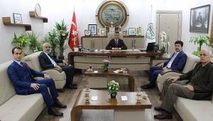 SUBÜ Rektörü Sarıbıyık'tan Baro Başkanına Ziyaret