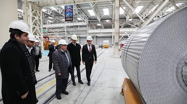 Vali Nayir Asaş Alüminyum Fabrikasında İncelemelerde Bulundu