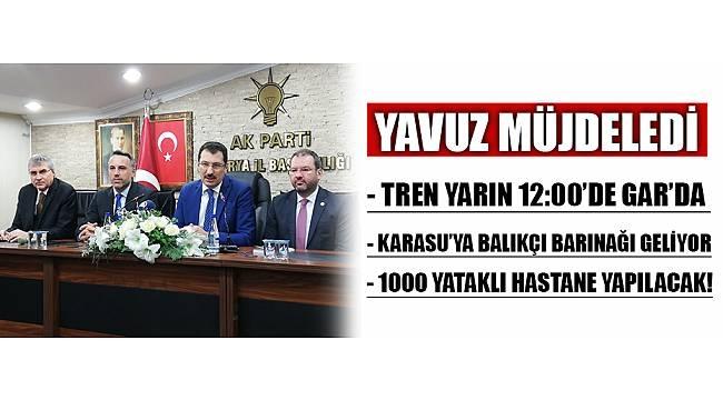 YAVUZ'DAN MİTİNG ÖNCESİ 3 MÜJDE!