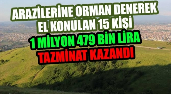 Arazilerine Orman Denerek El Konulan 15 Kişi 1 Milyon 479 Bin Lira Tazminat Kazandı