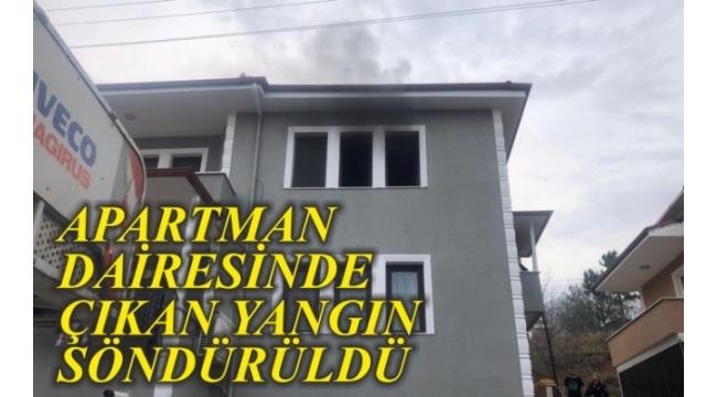 Apartman Dairesinde Çıkan Yangın Söndürüldü