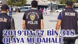 2019'da 57 Bin 318 Olaya Müdahale