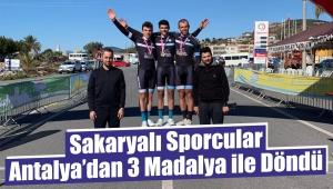 Sakaryalı Sporcular Antalya'dan 3 Madalya ile Döndü