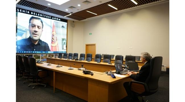 Başkan Yüce Bürokratlarıyla Telekonferansla Görüştü