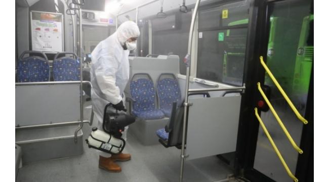 Büyükşehir'den Otobüslere Corona Virüs Önlemi