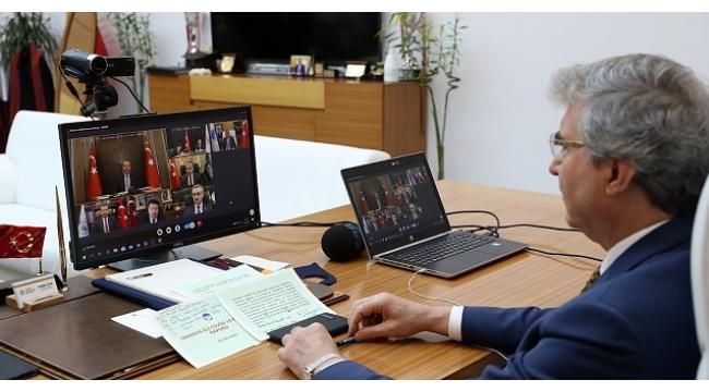 Başkan Yüce Cumhurbaşkanı Erdoğan ile Görüştü
