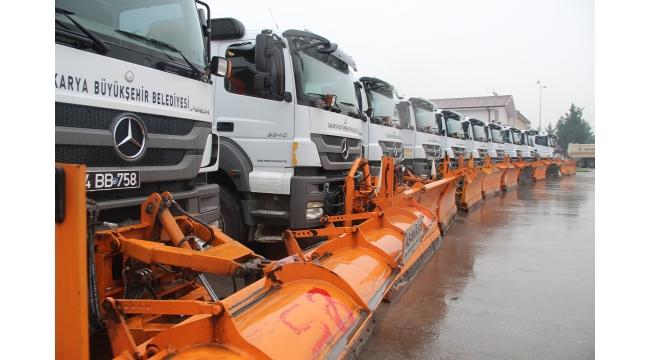 Büyükşehir karla mücadele için hazırlıklarını tamamladı