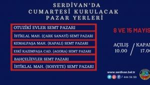 Serdivan'da Pazarlara Hafta Sonu Düzenlemesi