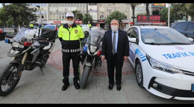 Vali Nayir ile Müdür Kaya'dan Trafik Haftası Etkinliği